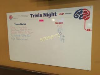 Trivia Night White Board   48 x 30