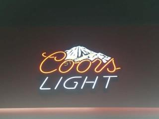 Illuminated Coors light Sign