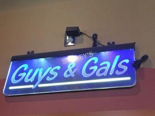 Illuminated Guys   Gals Bathroom Sign