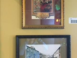 Pair Framed Prints  The Hole in the Wall  Town