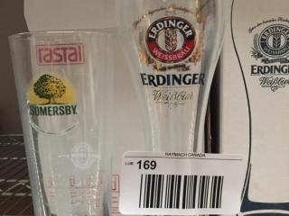 6  Somersby   6 Erdinger Beer Glasses   As New