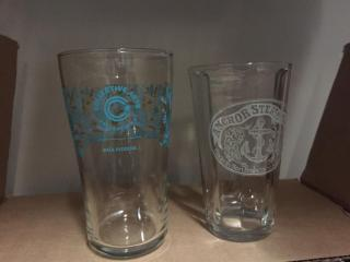 22  Asst  Beer Glasses   Anchor Seam