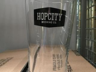 Dozen New Hop City Beer Glasses