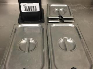 Cambro ColdFest Pan   1 6 Size   S S lids