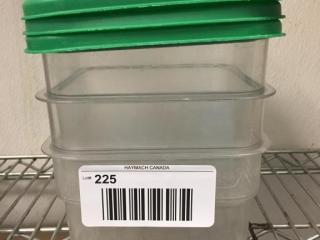 2 Qt  Food Storage Container w  lid x 3