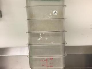 4 Qt  Food Storage Container x 6