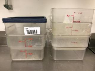 12 Qt  Food Storage Container x 5