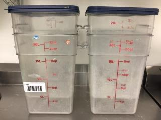 22 Qt  Food Storage Container w  lid x 4