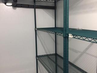 Green Epoxy Metro Rack   4  W x 18  D x 75