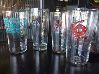 lOT  Dozen Assorted Beer Glasses
