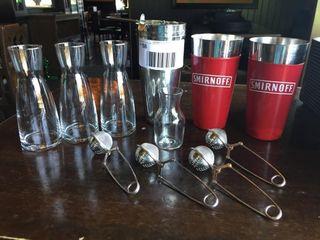 lOT  Wine Carafes  Martini Shakers  Etc