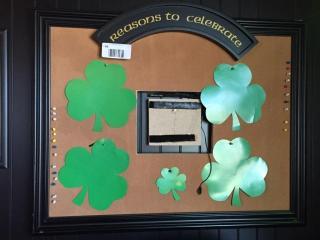 Reasons to Celebrate  Framed Cork Board
