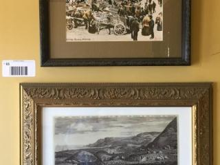 Pair of Prints  Killarney Village Square