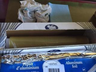 lOT  Saran Wrap   Aluminum Foil