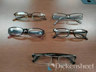 50 READING GLASSES AS PHOTOGRAPHED