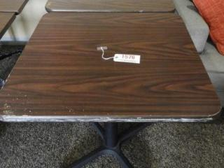 Lot # 1576 - (2) (29? x 30?) dining tables