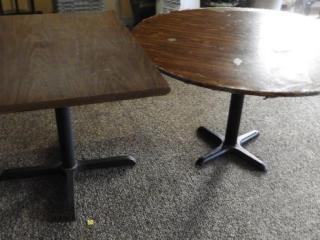 Lot # 1585 - 48? round dining table and (1),