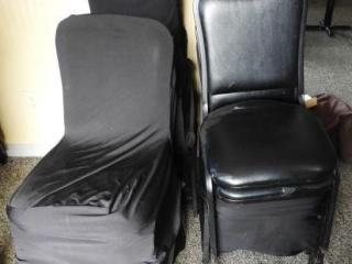 Lot # 1586 - (12) slip covered dining chairs