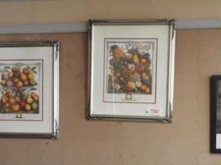 Lot # 1597 - (2) floral birth month framed
