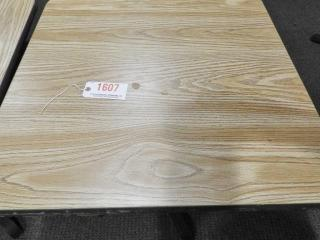 Lot # 1607 - (2) 29? x 30? dining tables one
