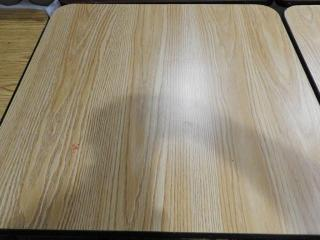 Lot # 1609 - (2) 29? x 30? dining tables one