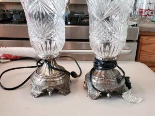 2 Shannon Crystal Lamps