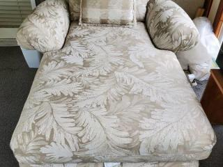 White Floral Lounge Chair