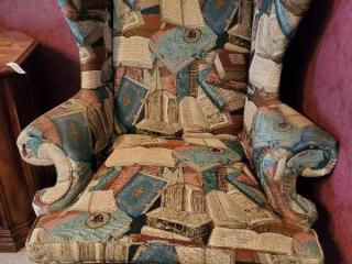 Book Fabric Lounge Chair with Wooden Frame CONTENTS NOT INCLUDED