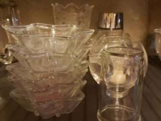 Lot 17 Glassware Candle Holders