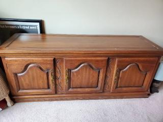 Wooden Entertainment Center or Coffe Table with Lower Storage CONTENTS NOT INCLUDED