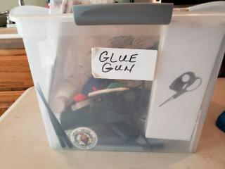 Hot Glue/Crafts Bin