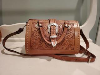 Force Ten Classic Leather Engraved Purse
