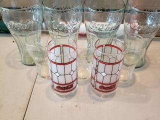 Coke and Coca Cola Glasses