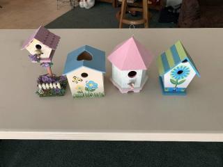 Lot of 4 Birdhouses