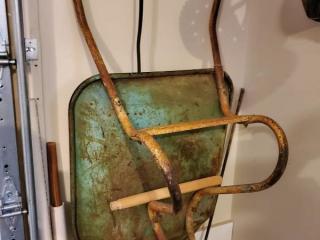 Vintage Green Garden Wheelbarrow