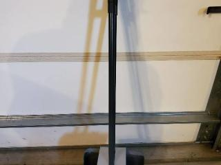 Standing Broom and Dustpan