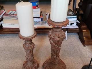 Beautiful Resin Mantle Candle Holders