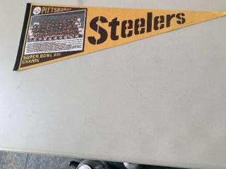 Pittsburgh Steelers Super Bowl XIII Champs Pennant