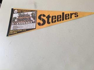 Pittsburgh Steelers Super Bowl XIV Champs Pennant