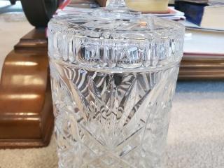Diamond Cut Crystal Cookie Jar