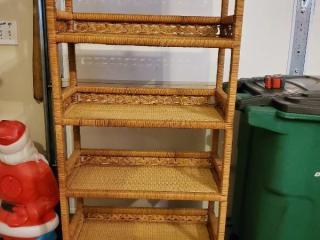 6 Tier Wicker Shelf