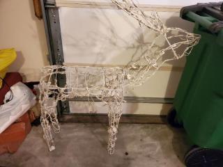 White Light Up Christmas Reindeer