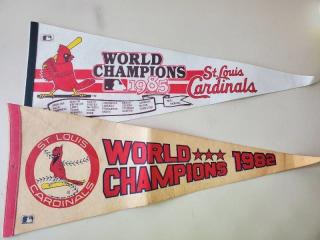 Lot of 2 Cardinals World Champs Pennants