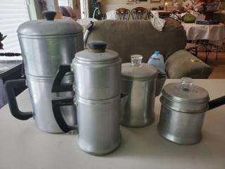 Lot of Aluminum Pots and Water Filter