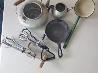 Lot of Vintage Camping Kitchenware
