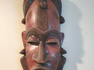 Wooden Headpiece African Carved Art Piece