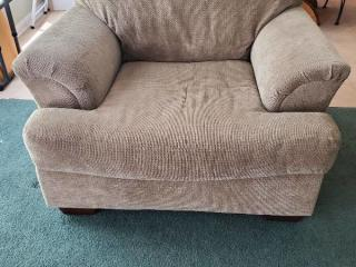 Oversized Beige Chair