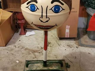 Big Head Yard Art -Heavy - Cast Iron?