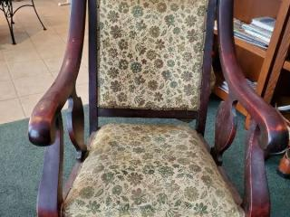 Vintage Rocker with Floral Fabric
