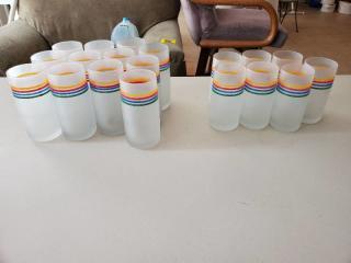 Vintage Fristed Rainbow Glasses 2 Sizes